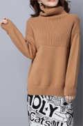 Dezzal: LUSHIJIAO Turtleneck Ribbed Sweater For $ 59.99