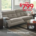 Ashley Homestore: $300 Off Overly Reclining Sofa