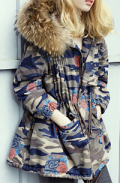 Dezzal: MAXMARTIN Hooded Camo Parka Coat Only For $147.67