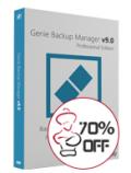 Genie9: 70% Off Genie Backup Manager Professional 9.0