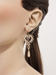 YLANG23: 65% Off Handmade Padlock Heart Earrings In Rose Gold