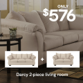 Ashley Homestore: Darcy Sofa And Loveseat Only $576