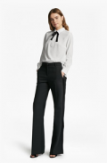 French Connection(US): POLLY PLAINS TIE NECK SHIRT Only For $88