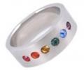 ZZ - Pride Shack: Free Half Rainbow Ring