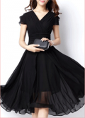 Liligal: 64% Off V Neck Cap Sleeve High Waist Dress
