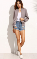 EmmaCloth: 77% Off Color Block Pocket Zipper Front Long Sleeve Jacket