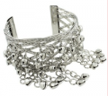 Liligal: Silver Metal Bell Decorated Bangle Just For $7.46