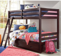 Ashley Homestore: Hickory Point Twin Over Twin Bunk Bed W/Storage For $398