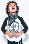 Lauren Moshi: BUNNY BRIGHT HAPPY PEACE 3/4 SLV RAGLAN