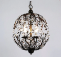 Beautifulhalo: Contemporary Funky Pendant Light With Crystal Leaves