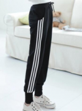 Beautifulhalo: Women's Plus Size Side Stripe Sport Knit Pants