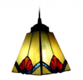 Beautifulhalo: Tawny Tiffany Art Stained Glass Style Mini Pendant Light In Square Shape Shade