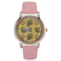 Teeamazing: Sugar Skull Women's Rose Gold Leather Strap Watch
