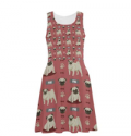 Teeamazing: Pug Pattern Atalanta Sundress