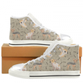 Teeamazing: Chihuahua White Women's Classic High Top Canvas Shoes