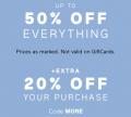 GAP: 50% Off + Extra 25% Off
