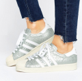 ASOS: Adidas Superstar 80s Silver Trainers