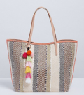 Lane Bryant: Tote With Poms