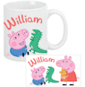 TV's Toy Box: Personalized Peppa Pig And George Coffee Mug For $14.95