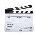 Camfere: Acrylic Clapboard Dry Erase Director Film Movie Clapper Board Slate