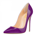 FSJshoes: Women's Viola Purple Polka Dots Stiletto Heel