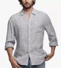 James Perse: 33% Off Long Sleeve Needle Stripe Linen Shirt