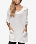 James Perse: 60% Off Knit Mesh Hooded Pullover