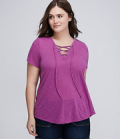Lane Bryant: Lace-Up Tee