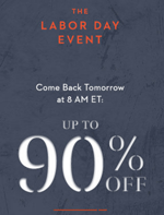 Gilt: 90% Off The Labor Day Event