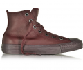 Forzieri: 50% Off All Star High Dark Burgundy Leather Women's Sneaker
