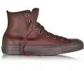 Forzieri: 50% Off All Star High Dark Burgundy Leather Women's Sneaker