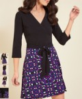 Zulily: 20% Off Black Kaleidoscope Wrap Of Luxury A-Line Dress
