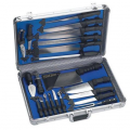 Peazz: Slitzer™ 22pc Professional Chef's Cutlery Set In Case