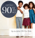 Gilt: 90% Off For Kids