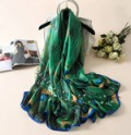 Ebay: NEW Arrivals - Women Silk Scarf Peacock Feather $16.95