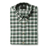 Allen Edmonds: 76% Off Brushed Cotton Green Check Sport Shirt