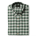 Allen Edmonds: 76% Off Brushed Cotton Green Check Sport Shirt