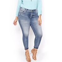 AdditionElle: 50% Off Silver Elyse Ankle Skinny Jeans