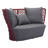 Best Priced Furniture: Faye Bay Beach Sofa Cranberry And Gray