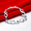 Mobstub: 87% Off - Sterling Silver Infinite Amethyst Gem Bracelet