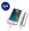 Mobstub: 69% Off - 3 Pack: Portable Power Bank - Assorted Colors