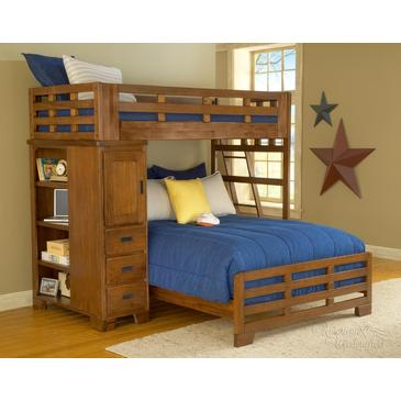 Beyondstores: 23% Off American Woodcrafters Heartland Twin Over Full Student Loft Bed