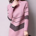 JustFashionNow: 10% Off Zipper Long Sleeve Geometric Knitted Sweater Dress