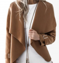 JustFashionNow: 14% Off Camel Solid Asymmetric Long Sleeve Jacket
