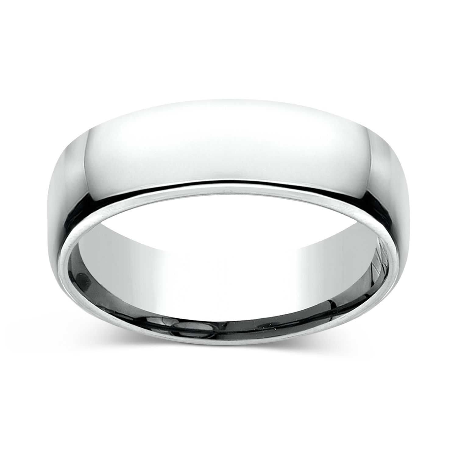 CHARLES & COLVARD: European Comfort Fit 6.5mm Wedding Band