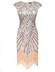 Dresslink: 40% Off  Women Art Deco Tassel 1920s Style Party Wedding Slim Gatsby O Neck Flapper Dress