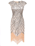 Dresslink: 40% Off  Women Art Deco Tassel 1920s Style Party Wedding Slim Gatsby O Neck Flapper Dress