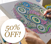 Canvas On Demand: 50% Off Coloring Canvas