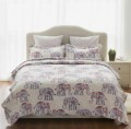 Bedsure Designs: Elephant Pattern Printed Quilt Set Just Sale $13.99