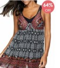 Liligal: 64% Off Spaghetti Strap Cutout Back Padded Swimdress